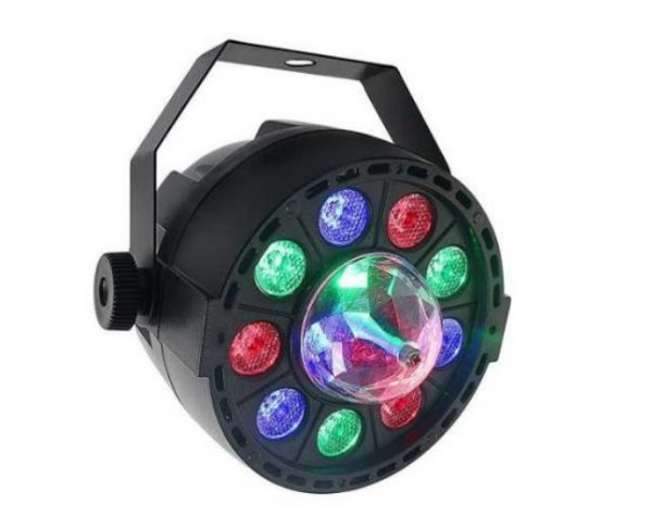 Пар New Light PL-99C Mini LED PAR LIGHT 9*1W with crystall ball
